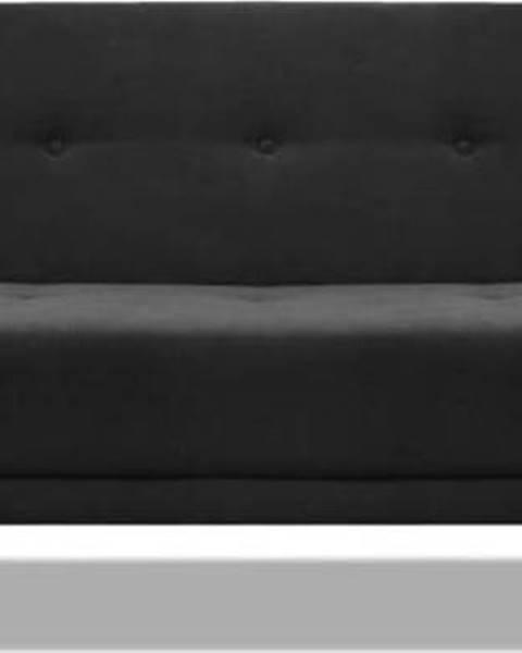 Cosmopolitan design Černá rozkládací pohovka Cosmopolitan Design Stuttgart, 212 cm