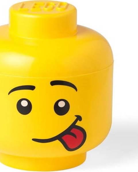 LEGO Žlutý úložný box ve tvaru hlavy LEGO® Silly, ⌀ 16,3 cm