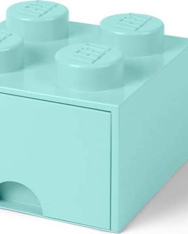 Mentolově zelený úložný box čtverec LEGO®