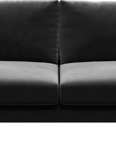 Tmavě šedá sametová pohovka Devichy Levie, 222 cm