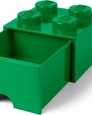 Zelený úložný box s šuplíkem LEGO®