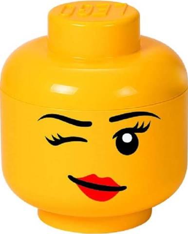 Žlutý úložný box ve tvaru hlavy LEGO® Winky, ⌀ 16,3 cm
