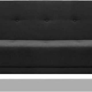 Černá rozkládací pohovka Cosmopolitan Design Stuttgart, 212 cm