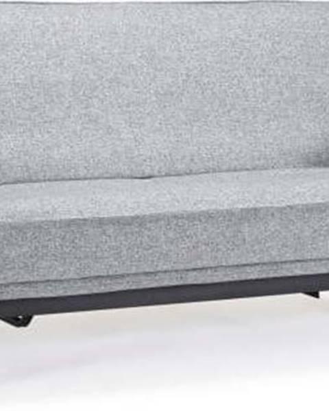 Innovation Světle šedá rozkládací pohovka se snímatelným potahem Innovation Aslak Elegant Twist Granite, 92x200cm