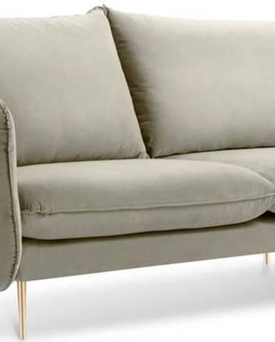 Béžová sametová pohovka Cosmopolitan Design Florence,160 cm