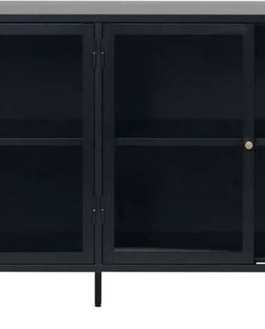Černá vitrína Unique Furniture Carmel,délka170cm
