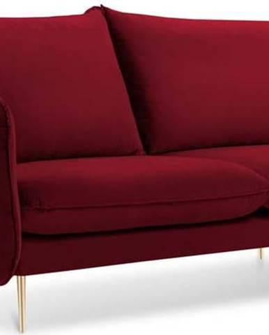 Červená pohovka se sametovým potahem Cosmopolitan Design Florence, 160 cm