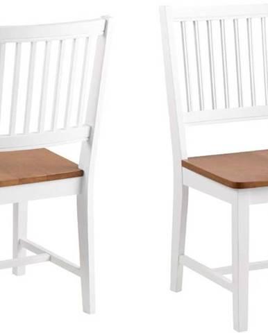 Hnědo-bílá jídelní židle z kaučukového dřeva Actona Brisbane