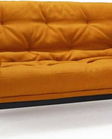 Oranžová rozkládací pohovka Innovation Minimum Elegant Elegance Burned Curry