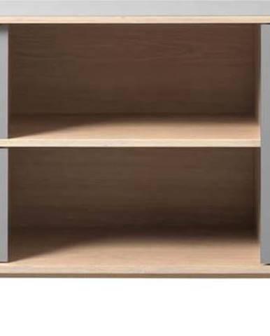 Šedá nízká komoda Unique Furniture Bilbao