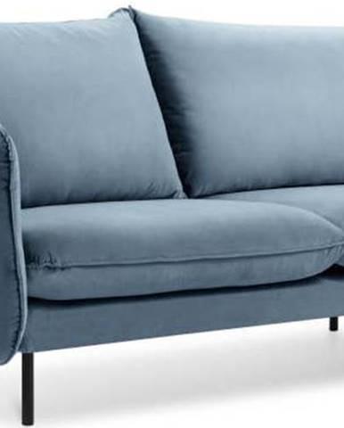 Světlé modrá sametová pohovka Cosmopolitan Design Vienna, 160 cm