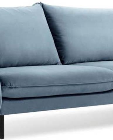 Světle modrá sametová pohovka Cosmopolitan Design Vienna, 200 cm