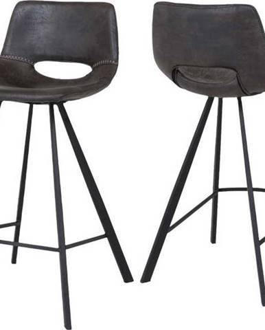 Tmavě šedá barová židle Canett Coronas, výška87cm