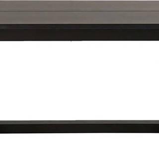 Černý konferenční stolek z dubového dřeva Canett Binley, 120 x 75 cm