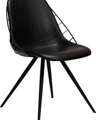 Černá jídelní židle z imitace kůže DAN-FORM Denmark Sway