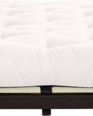 Dvoulůžková postel z borovicového dřeva s matrací Karup Design Dock Double Latex Black/Natural, 160 x 200 cm