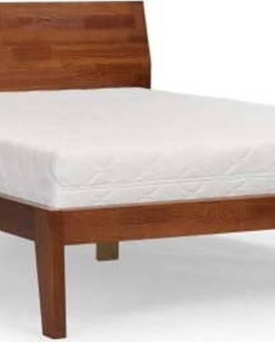 Dvoulůžková postel z masivního borovicového dřeva SKANDICA Agava Dark, 140 x 200 cm