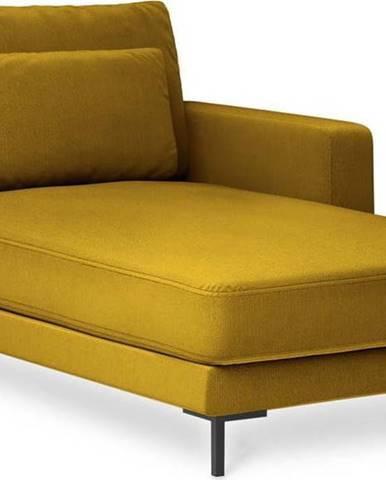 Hořčicově žlutá lenoška Interieurs 86 Seine, pravý roh
