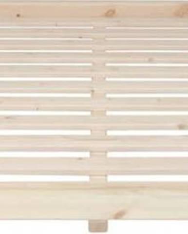 Postel z borovicového dřeva v přírodní barvě Karup Design Dock, 180 x 200 cm