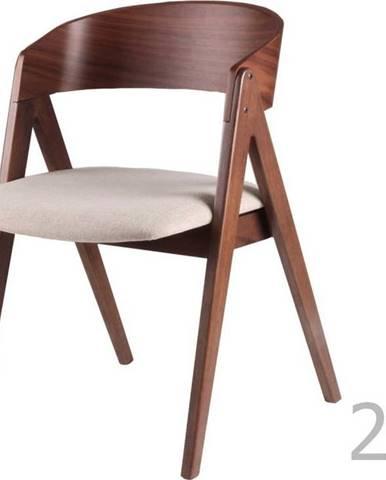 Sada 2 jídelních židlí s béžovým podsedákem sømcasa Rina