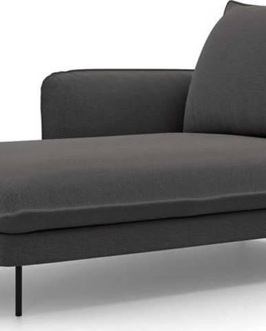 Tmavě šedá lenoška Cosmopolitan Design Vienna, levý roh