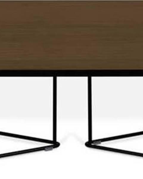 TemaHome Konferenční stolek s ořechovou dýhou TemaHome