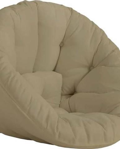 Béžové rozkládací křesílko vhodné do exteriéru Karup Design Design OUT™ Nido Beige