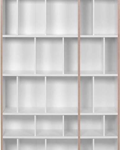 Bílá knihovna TemaHome Group, šířka 108 cm