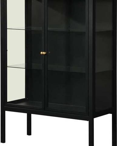 Černá dvoudveřová vitrína Støraa Alva, výška 140 cm