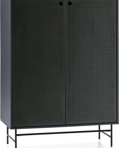 Černo-modrá skříňka Teulat Punto