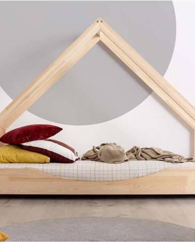 Domečková dětská postel z borovicového dřeva Adeko Loca Elin,70x160cm