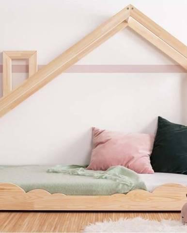 Domečková postel z borovicového dřeva Adeko Luna Drom,70x200cm