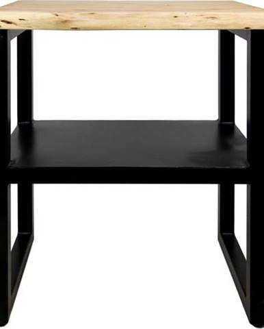 Příruční stolek s poličkou z akáciového dřeva HSM collection SoHo