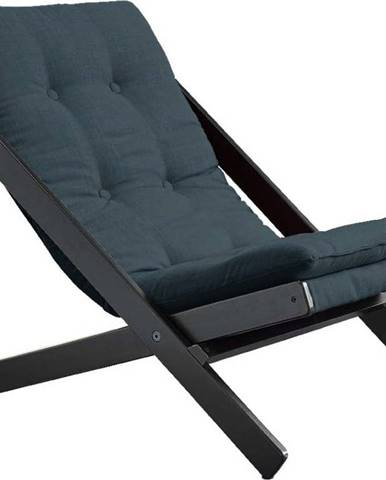 Skládací křeslo Karup Design Boogie Black/Petroleum