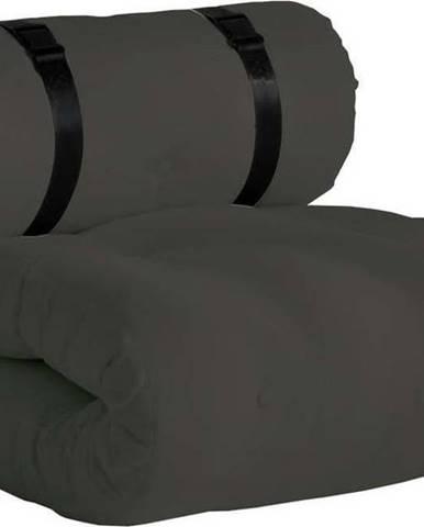 Tmavě šedé rozkládací křesílko vhodné do exteriéru Karup Design Design OUT™ Buckle Up Dark Grey