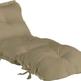 Béžový variabilní futon vhodný do exteriéru Karup Design OUT™ Sit&Sleep Beige