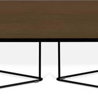 Konferenční stolek s ořechovou dýhou TemaHome