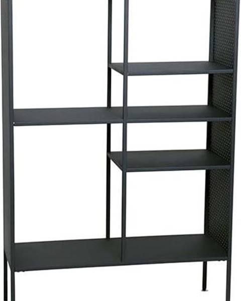 Canett Černá kovová knihovna Canett Brooks, výška 140 cm