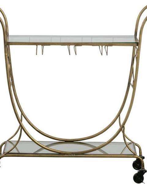 BePureHome Skleněný servírovací vozík ve zlaté barvě BePureHome