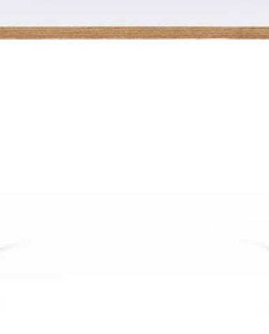 Bílý pracovní stůl s černými nohami TemaHome Flow, 140 x 75 cm