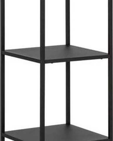 Černá kovová knihovna se 4 policemi Actona Newcastle, šířka 35 cm