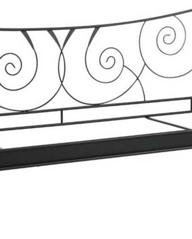 Černá kovová postel Støraa Isabelle, 90x200cm
