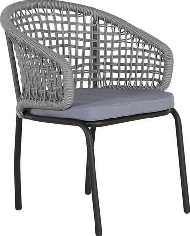 Sada 2 šedých zahradních židlí Monobeli Ibiza