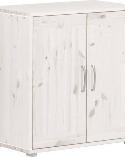 Flexa Bílá dětská skříňka z borovicového dřeva Flexa Classic