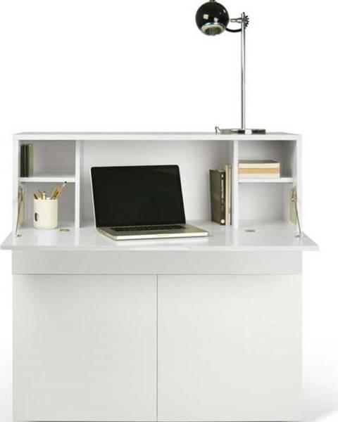 TemaHome Bílý pracovní stůl TemaHome Focus, 110 x 109 cm
