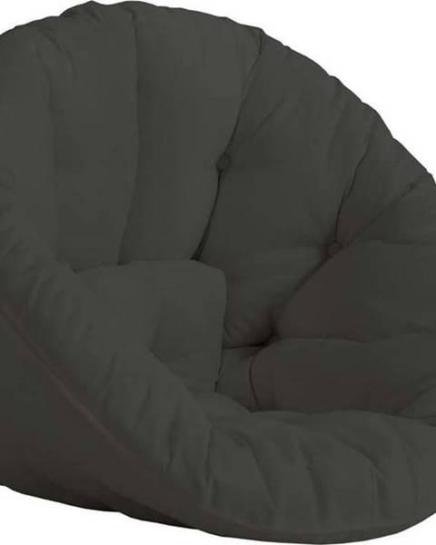 Karup Design Tmavě šedé rozkládací křesílko vhodné do exteriéru Karup Design Design OUT™ Nido Dark Grey