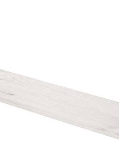 Bílá nástěnná polička z borovicového dřeva Flexa White, délka 72cm