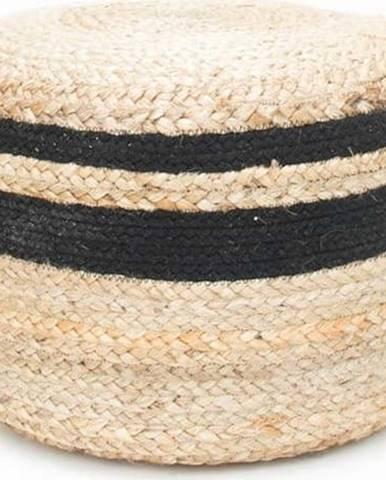 Puf zjuty sčerným detailem LABEL51 Braided