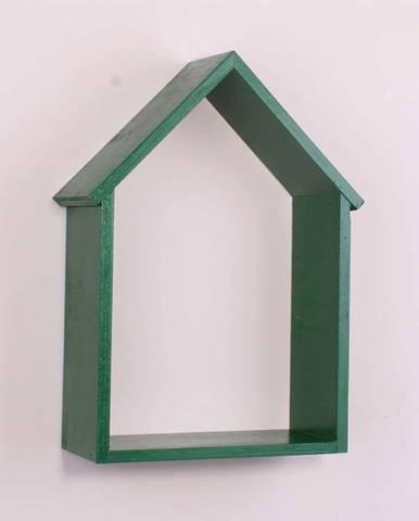 Zelená dřevěná nástěnná polička North Carolina Scandinavian Home Decors House