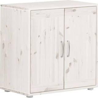 Bílá dětská skříňka z borovicového dřeva Flexa Classic